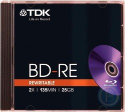 TDK Blu-Ray 25GB, 135MIN, 2x, 1шт, Jewel Case