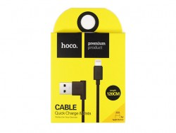Кабель USB - Apple 8 pin Lightning  HOCO UPL11, 1.2м, боковой Black