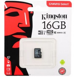 Карта памяти MicroSDHC 16Gb Kingston UHS-1 до 80Mb/s