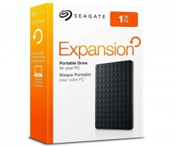ЖЕСТКИЙ ДИСК 1TB SEAGATE EXPANSION PORTABLE STEA1000400 BLACK USB3.0