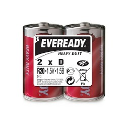 Батарея Eveready LR20-2BL, 2 шт. D