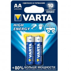 Батарейка Varta High Energy AA/LR6 1.5V  -  2шт.