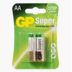 Батарейка GP AA Super Alkaline 1.5V (GP15A-2CR2) 2ШТ.
