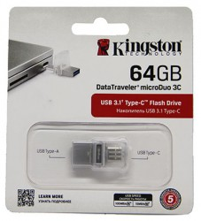 USB флешка 64GB Kingston DataTraveler microDuo 3C USB 3.1