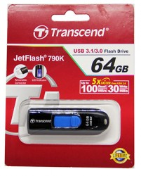USB флешка 64Gb Transcend JetFlash 790W USB 3.1