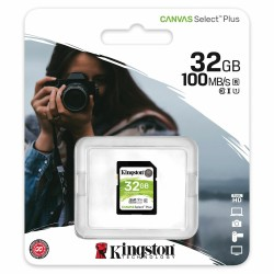 Карта памяти SDHC 32Gb Kingston, Canvas Select Plus, Class10, UHS-I U1 100Mb/s