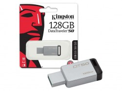 Флешка USB KINGSTON DataTraveler 50 128Гб, USB3.0, черный (dt50/128gb)