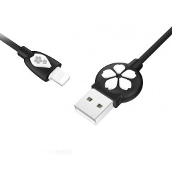Кабель USB - Apple 8 pin Lightning Hoco JP15 Sakura, 1.2м, Black