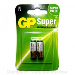 Батарейка GP Super Alkaline LR1 (N) 1.5V , 2 Pack