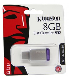 USB флешка 8GB Kingston DataTraveler 50 USB 3.1