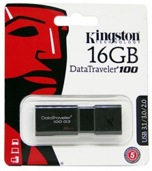USB флешка 16GB Kingston DataTraveler 100 USB 3.1