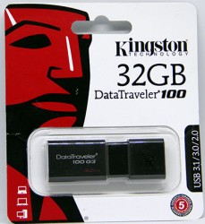 USB флешка 32GB Kingston DataTraveler 100 G3 USB 3.1/3.0/2.0