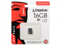 Карта памяти MicroSDHC 16Gb Kingston UHS-1 до 90Mb/s (Industrial Grade)