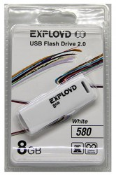 USB флешка 8Gb Exployd White 580