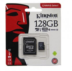 Карта памяти MicroSDXC 128Gb Kingston UHS-1 (+переходник на SD)