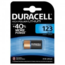 Батарейка DURACELL HIGH POWER LITHIUM CR123A, 3V
